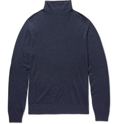 Boglioli Virgin Wool, Silk and Cashmere-Blend Rollneck Sweater