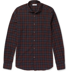 Boglioli Plaid Brushed-Cotton Shirt