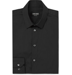 Giorgio Armani Slim-Fit Stretch Cotton-Blend Poplin Shirt