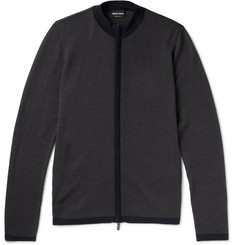 Giorgio Armani Virgin Wool Zip-Up Cardigan