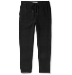 Chalayan Slim-Fit Textured Stretch Cotton-Blend Sweatpants