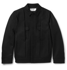 Chalayan Pleated Virgin Wool-Blend Twill Jacket
