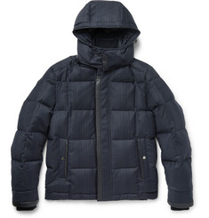 Brioni Quilted Checked Wool and Cashmere-Blend Down Jacket