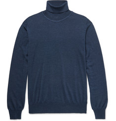 Brioni Wool, Silk and Cashmere-Blend Rollneck Sweater