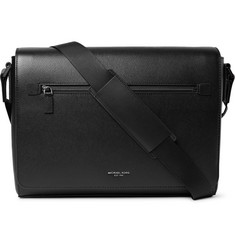 Michael Kors - Harrison Large Cross-Grain Leather Messenger Bag
