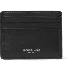 Michael Kors Owen Grained-Leather Cardholder