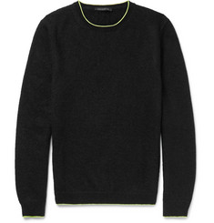 Christopher Kane Slim-Fit Neon-Tipped Knitted Sweater