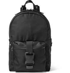 Christopher Kane Leather-Trimmed Canvas Backpack