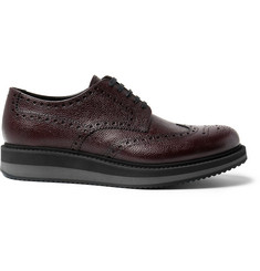 Prada Pebble-Grain Leather Wingtip Brogues