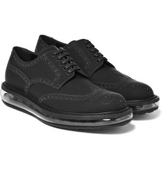 Prada - Rubberised-Leather Wingtip Brogues