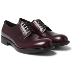 Prada - Spazzolato Leather Derby Shoes