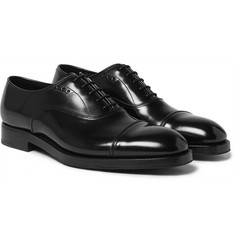Prada - Cap-Toe Polished Spazzolato Leather Oxford Shoes