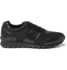 Prada Match Race Leather and Neoprene Sneakers
