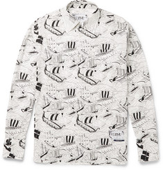 Prada Printed Cotton-Poplin Shirt