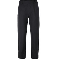 Prada Velvet-Trimmed Wool Trousers
