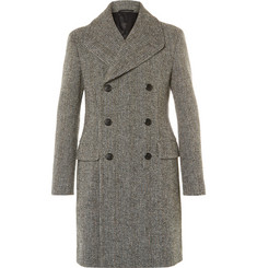 Prada - Slim-Fit Double-Breasted Virgin Wool-Blend Bouclé Overcoat