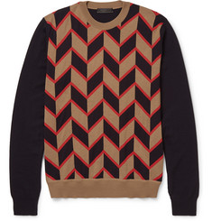 Prada Jacquard-Knit Wool Sweater