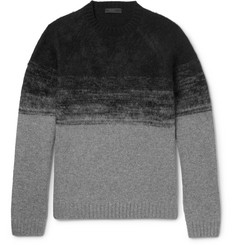 Prada Slim-Fit Dégradé Brushed Wool-Blend Sweater