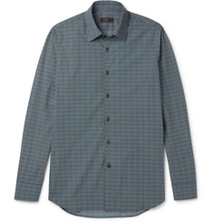 Prada - Slim-Fit Printed Cotton Shirt