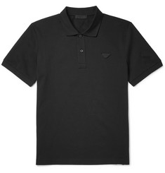 Prada - Slim-Fit Cotton-Piqué Polo Shirt