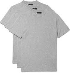 Prada - Three-Pack Slim-Fit Cotton-Jersey T-Shirts