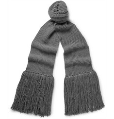 Lanvin Fringed Wool Scarf