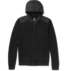 Prada - Slim-Fit Panelled Shell and Loopback Cotton-Jersey Zip-Up Hoodie
