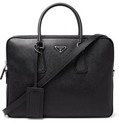 Prada Grained-Leather Briefcase