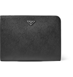 Prada Cross-Grain Leather Pouch