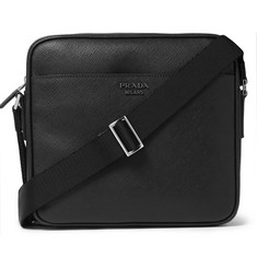 Prada Cross-Grain Leather Messenger Bag