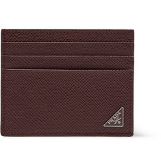 Prada Pebble-Grain Leather Cardholder