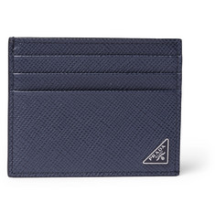 Prada - Pebble-Grain Leather Cardholder