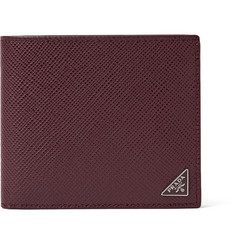 Prada - Pebble-Grain Leather Billfold Wallet