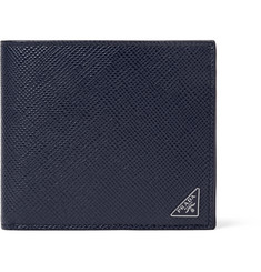 Prada Pebble-Grain Leather Billfold Wallet