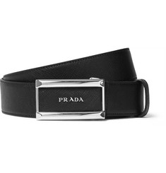 Prada - 3.5cm Black Saffiano Leather Belt