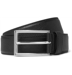 Prada - 3cm Cross-Grain Leather Belt