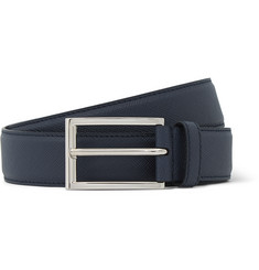Prada 3cm Cross-Grain Leather Belt