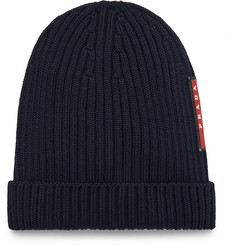 Prada Ribbed Virgin Wool Beanie
