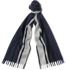 Prada Striped Cashmere Scarf