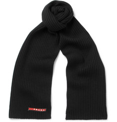 Prada Ribbed Virgin Wool Scarf