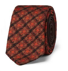 Prada - 5cm Checked Silk and Wool-Blend Tie