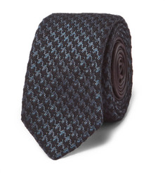 Prada 6cm Houndstooth Wool and Silk-Blend Tie