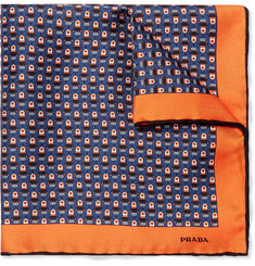 Prada Printed Silk-Twill Pocket Square