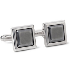 Prada Silver-Tone and Hematite Cufflinks
