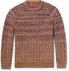 Missoni Chevron-Knitted Wool-Blend Sweater