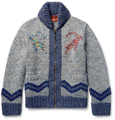 Missoni Intarsia Wool, Alpaca and Cashmere-Blend Cardigan