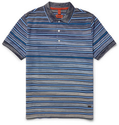 Missoni - Striped Knitted Cotton Polo Shirt