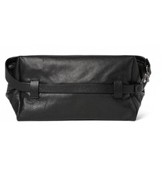 Maison Margiela Grained-Leather Wash Bag