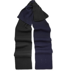 Maison Margiela - Two-Tone Ribbed Wool-Blend Scarf