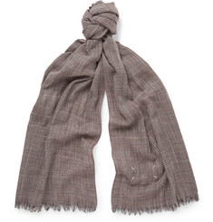 Maison Margiela - Checked Wool Scarf